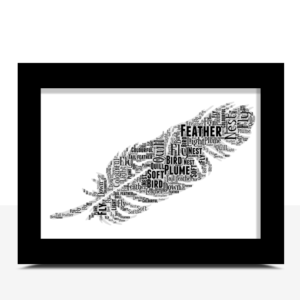Feather Word Art – Personalised Good Luck Gift Good Luck Gifts