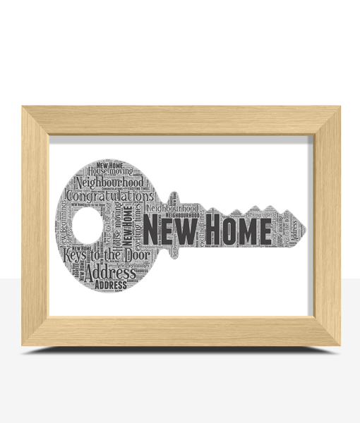 Personalised Key Word Art – New Home Gift New Home