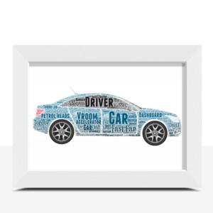 Personalised Car Word Art Travel