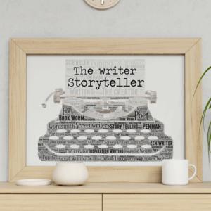 Personalised Typewriter Word Art Print Teacher Gifts