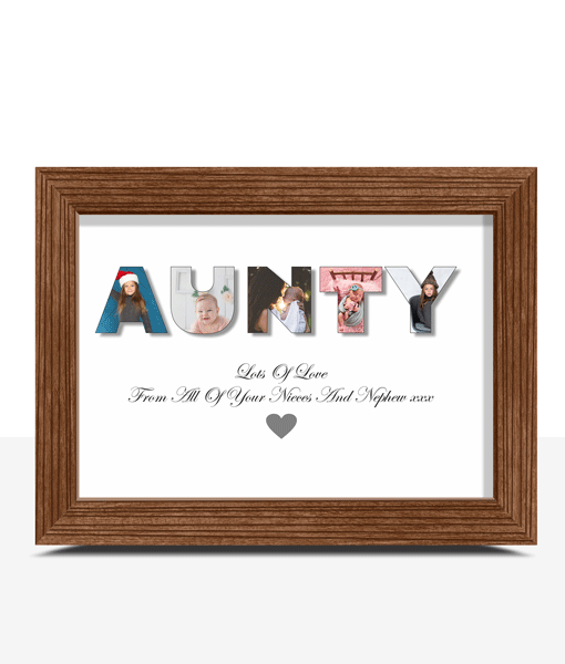 Personalised AUNTY Photo Gift Gifts For Her