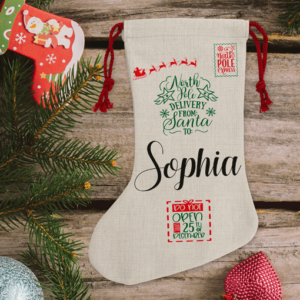 Personalised Children's Traditional Christmas Stocking Christmas