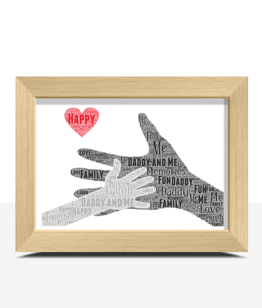 Daddy and Me – Personalised Word Art Gift Fathers Day Gifts