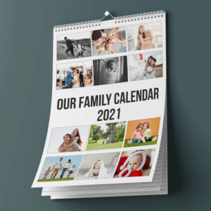 Personalised A3 Photo Calendar 2021 Family