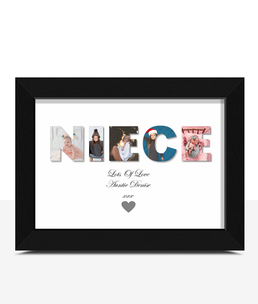 Personalised NIECE Photo Gift Gifts For Her