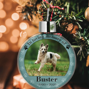 Pet Memorial Photo Baubles Animal Prints