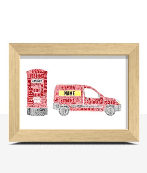 Personalised Postman – Postwoman Word Art Gift