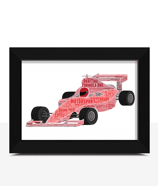 Formula 1 Racing Car Word Art Gifts For Children