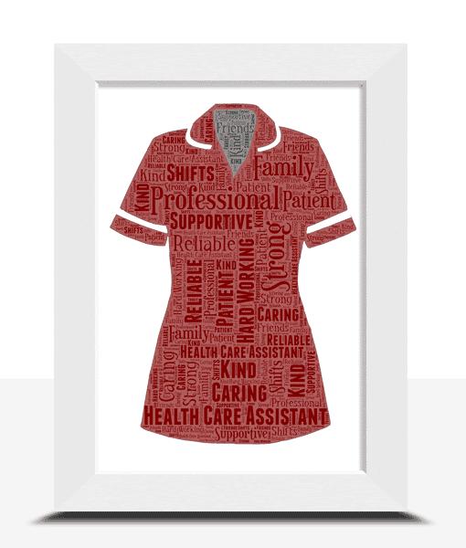 Health Care Assistant Uniform Word Art Print