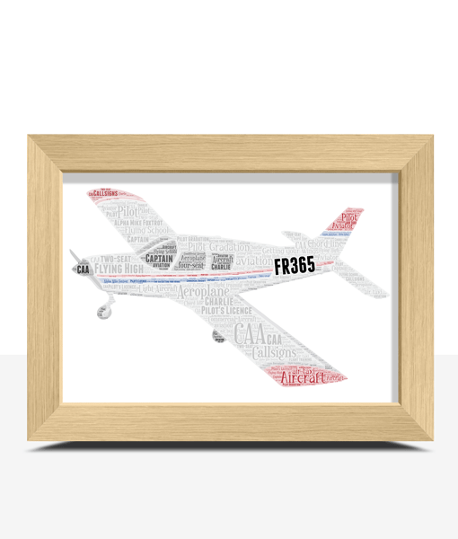 Personalised Light Aircraft Plane – Aviation Word Art Travel