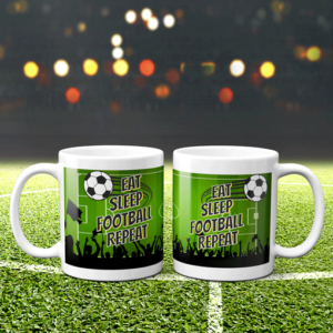 Football Mug – Eat Sleep Football Repeat Football Gifts