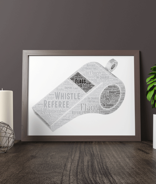Personalised Whistle Word Art Football Gifts