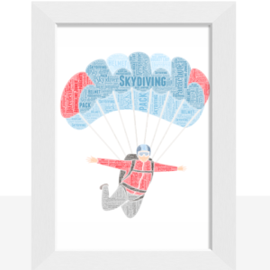 Skydiving Personalised Word Art – Skydiver Gift Sport