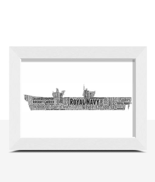 Royal Navy Aircraft Carrier Word Art Travel