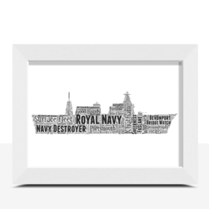 Royal Navy Destroyer – Personalised Word Art Gift Travel