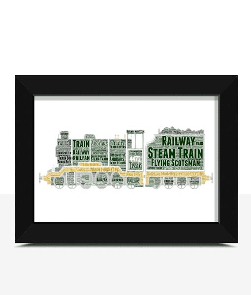 Personalised Steam Train Word Art Travel