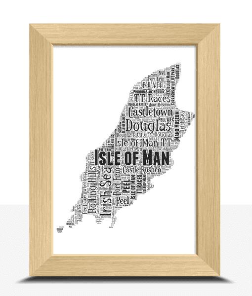 Personalised Isle of Man – Word Art Map Travel