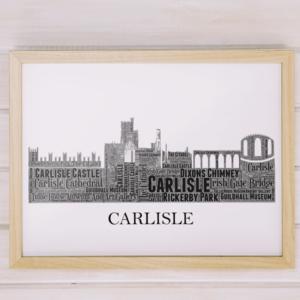 Personalised Carlisle Skyline Word Art City Skyline Prints