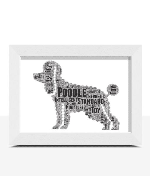 Personalised Poodle Dog – Word Art Animal Prints