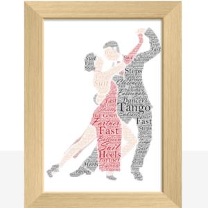 Tango Dancing Couple – Personalised Word Art Gift Dance