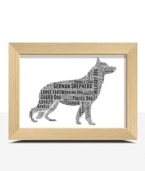 Personalised German Shepherd Dog – Word Art Animal Prints